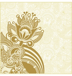 hand draw ornate abstract flower background vector image vector image