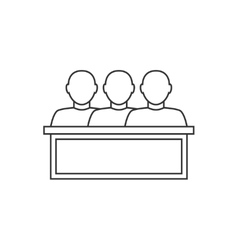 Jury thin line icon vector image vector image