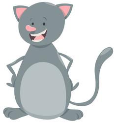 kitten pet character vector image vector image
