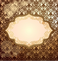 Luxury golden invitation vector image vector image