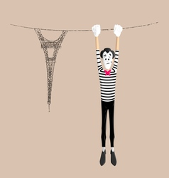 Mime performance - upside down vector