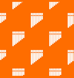 pan flute pattern seamless vector image vector image