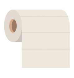 roll paper towel in colorful silhouette vector image