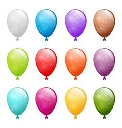 set of shiny balloons vector image vector image