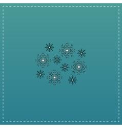 Snowflakes flat icon vector