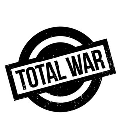 Total war rubber stamp vector