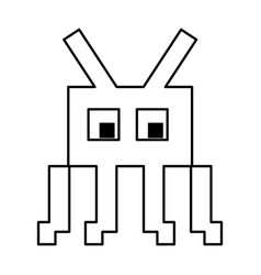 Videogame pixel character icon image vector