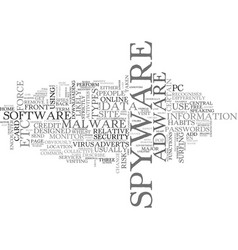 What is spyware and how did i get it text word vector