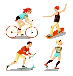 Young Riders Mini Set vector image vector image