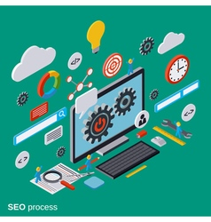 SEO optimization flat isometric concept vector image