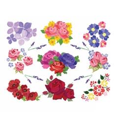 Spring Summer floral set vector image