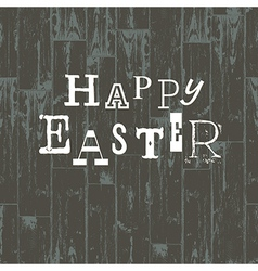 happy easter card vintage vector image