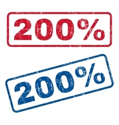 200 percent rubber stamps vector