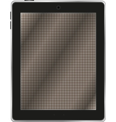 Black abstract tablet computer tablet pc on white vector