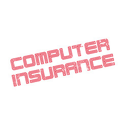 Computer insurance rubber stamp vector