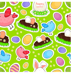 Happy easter seamless background vector