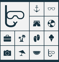 Hot icons set collection of armature tube trees vector