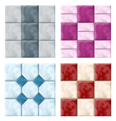 Tile set pattern vector