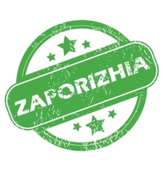 Zaporizhia green stamp vector