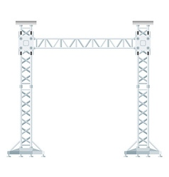 Colored flat style truss tower lift construction vector