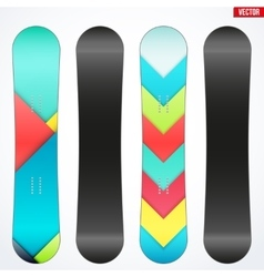 Snowboard sample symbols for design vector
