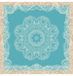 Vintage ornamental round lace pattern vector