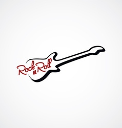 Guitar line logotype logo theme vector