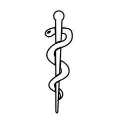 Caduceus medical symbol isolated icon design vector