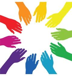 hands background vector image