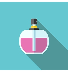 Perfume bottle long shadow vector