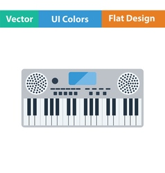 Music synthesizer icon vector