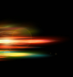 abstract smooth red blue yellow motion light vector image vector image