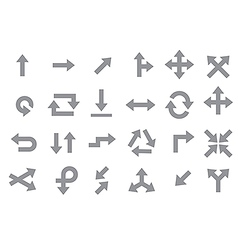 Arrows gray icons set vector image vector image
