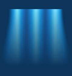 Blurred blue background concept of light on stage vector