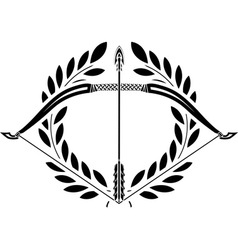 bow and laurel wreath vector image