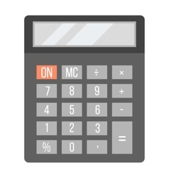 Business calculator technology icon vector