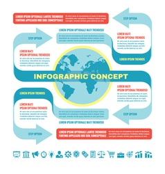 Business infographic concept - template vector image vector image