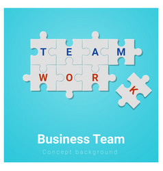 business team concept background with jigsaw vector image
