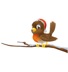Christmas robin vector