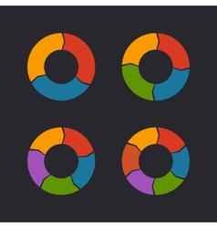 Circular Chart Template Set vector image