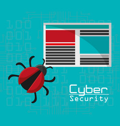 cyber security virus threat document file vector image vector image