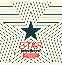 dark blue star vector image vector image