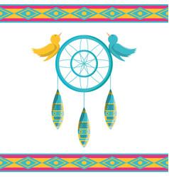 Dreamcatcher symbol hippie concept vector