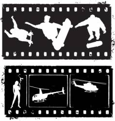 film strip grunge vector image