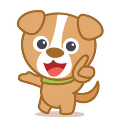 Funny dog cartoon art vector