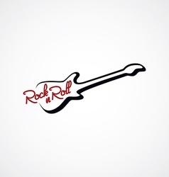 guitar line logotype logo theme vector image