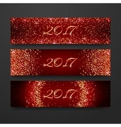 Happy new year 2017 invitation design collection vector