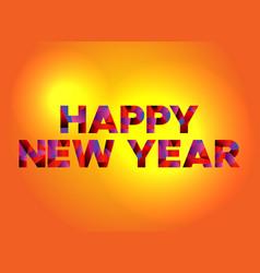 Happy new year theme word art vector