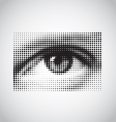 human eye black and white halftone vector image vector image