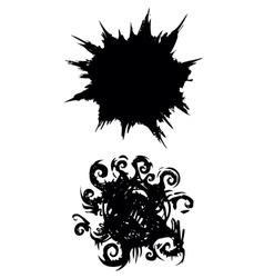 ink splash vector image vector image